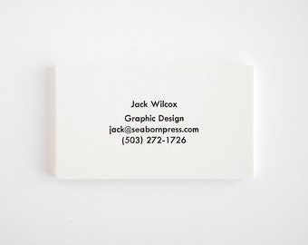 BOLT Mid Century Modern Business Cards - Simple Letterpress / Black and White - Utility