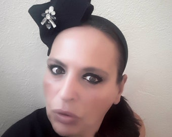Fascinator black ceremony/headband