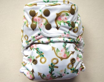 Cloth diapers, pocket diaper, diaper cover, cloth nappy, modern, cloth diaper pattern, one size diaper, cloth nappies, anchors, watercolor