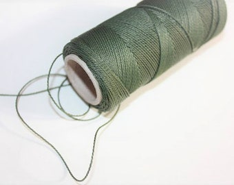 1 mm TWISTED KHAKI Cord = 1 Spool = 110 Yards = 100 Meters of Elegant Polypropylene Rope for Macrame Sewing Crocheting Knitting