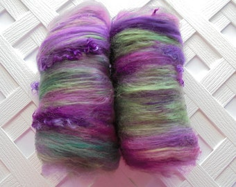 HIGHLAND HEATHER, Spinning Batts, Soft Art Batts, Felting Batts, Merino Batt, Merino Art Batt, Spinning Top, Gift for Spinner, Felting Wool