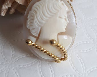 Cameo ring, vintage style Italian jewellery