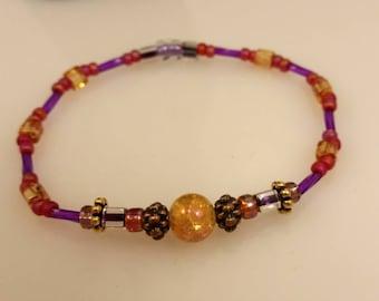 Fancy Glass Beaded Bracelet