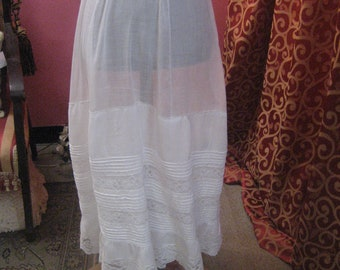 1900's, drawer string petticoat