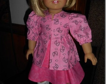 Pleated Blouse - 18 inch dolls - American GIrl, Springfield and other 18 inch dolls