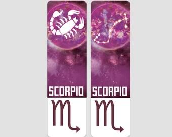 Scorpio Zodiac Sign Indestructible waterproof bookmark