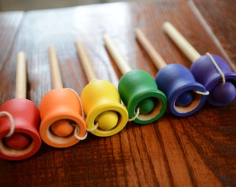 Wooden Rainbow Classic Ball and Cup - A Montessori and Waldorf inspired Dexterity Game