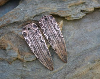 Snakeskin Shard, Copper Point shaped pair