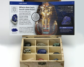 OreKit — a Minecraft-inspired Premium Rock and Gemstone Collection in a Custom Wooden Box and a 24-page Educational Booklet