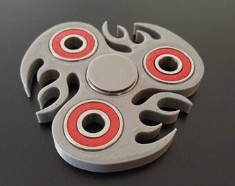 Custom Flames Fidget Spinner - EDC Desk Toy - Focus Tool -Premium Bearings