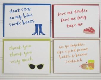 Elvis Presley Cards, Elvis Stationery, Elvis Cards, Elvis Stamps, Elvis Fan, Elvis Notecards, Boxed Note Cards, Gift for Her, Personalized