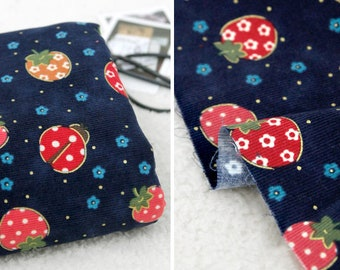 Corduroy Fabric, 5 colours, by Yard, Camouflage ladybird