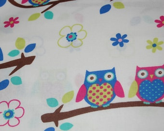 Surgical Scrub Hat Couple O Owls On Branches