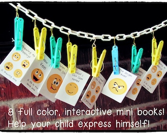 Autism, Special Needs, Feelings and Emotions Mini Books Anger Management