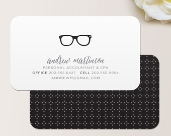 View business cards by malloryhopedesign on etsy nerd glasses business card calling card mommy card contact card accountant colourmoves Images