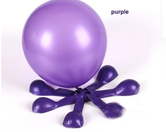 "10 PC Balloons 10"" Colored Latex Party Supplies Decoration Celebration - choose color"