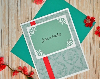 Just a Note Greeting Card