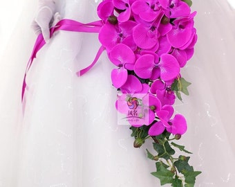 artificial flower waterfall bouquet orchid
