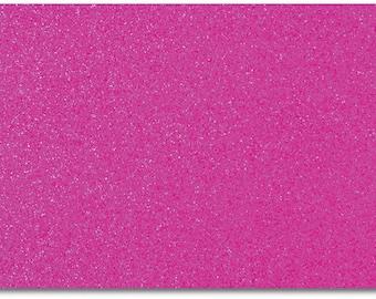 2 x A4 sheets of Premium Dovecraft Cerise Glitter Card 220 gsm