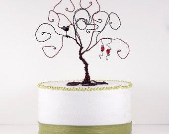 Gothic Wedding Cake Topper Wire Tree Sculpture Black Tree Wire Sculpture Art
