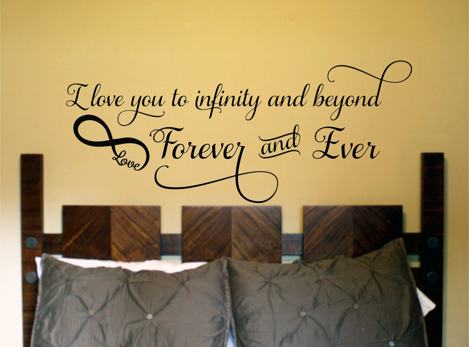 I love you to Infinity and Beyond Bedroom Wall Decal