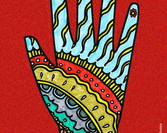 La Mano Fridge Magnet
