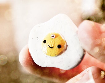 Custom Mini Egg Charm with Svarowski crystals made from Polymer clay!