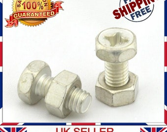NJ Motorcycle Motorbike Battery Terminal Nut and Bolt Kit M6x12mm Multipack Sets