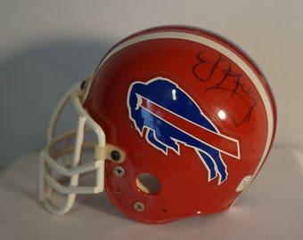 Buffalo Bills Hall of Famer Jim Kelly signed Mini Helmet NFL HOF