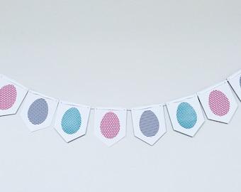 Easter Egg Flag Banner-Happy Easter! Spring Banner