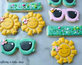 Summer Sunshine and Shades Sugar Cookies