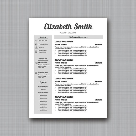 Grayscale Resume Template Easy Customization In Ppt