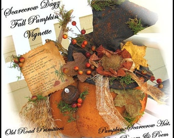 Primitive Scarecrow Pattern Scarecrow Dayz Fall Pumpkin Vignette Pattern