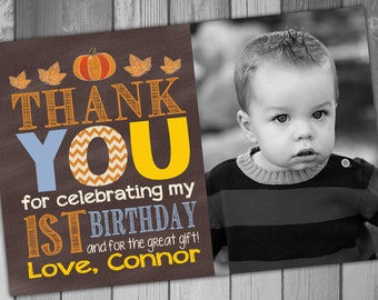 Thank you cards first birthday thank you card 1st birthday little pumpkin thank you card birthday thank you printable thank pumpkin birthday rustic birthday 1st birthday bookmarktalkfo Image collections