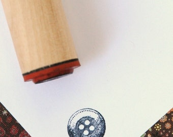 Button Rubber Stamp