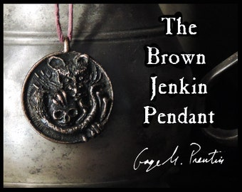 The Brown Jenkin Pendant - A bronze pendant inspired by HP Lovecraft