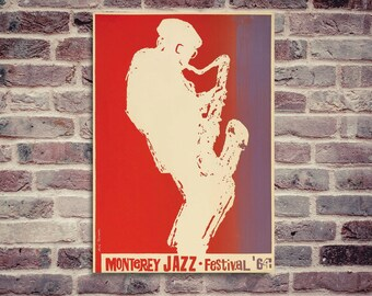 Monterey Jazz Festival 1964 poster. Jazz poster. Montrey poster. Jazz festival poster.