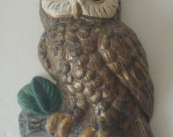 Owl wall plaque owl decor Ceramic owl wall hanger gifts for her