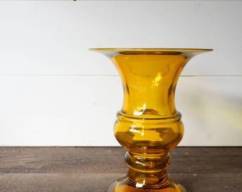 Vintage vase red glass