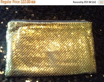 ON SALE Gold Mesh Whiting & Davis Bag Small Coin Purse 1940's