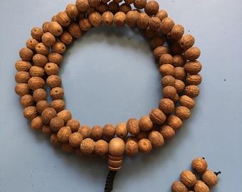 Bodhi Raktu 8MM Seed Mala Necklace Bracelet With Adjustable Knot