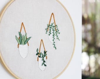 Embroidery Kit Plant, Embroidery Kit Modern, Embroidery Kit Beginner, Embroidery Kit DIY, Embroidery Kit Floral, Gift For Crafter