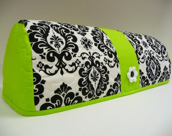 DELIGHTFUL DAMASK with Lime Green - Expression Dust Cover - Expression Cozy - Expression Cover - Cricut Dust Cover - Cricut Cover
