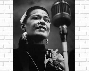 Billie Holiday - Photo - 1940s - Jazz - Music- Musician - Singer - Vocalist - Beautiful - African American - Black History - Art - Wall Art
