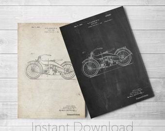 Harley Davidson Motorcycle Printables, Motorcycle Print, Vintage Motorcycle, Vintage Harley Davidson, Teen Boy Room Decor, PP0194