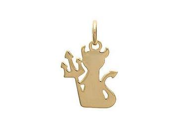 Pendant IMP / Devil plated gold