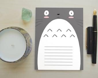 Totoro Notepad, Totoro Paper, Totoro, Studio Ghibli, Cute Notepad, Totoro Notes, Anime Notes