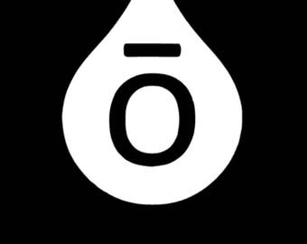 Licensed Doterra's O Drop Decal