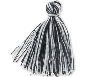 30mm black cotton tassel