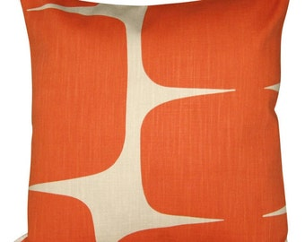 Scion Lohko Paprika & Pebble Abstract Cushion Cover
